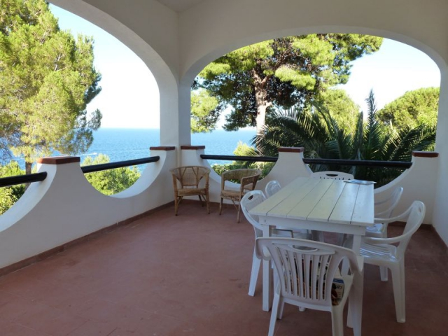 Vacation rental Scopello. Covered terrace of Villa Acquamarina with fantastic sea view. Holiday rental Sicily